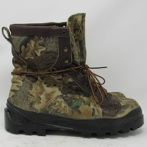 🇺🇸 Danner camouflage hunting boots men size 8EE